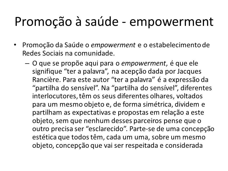 Promoção à saúde - empowerment