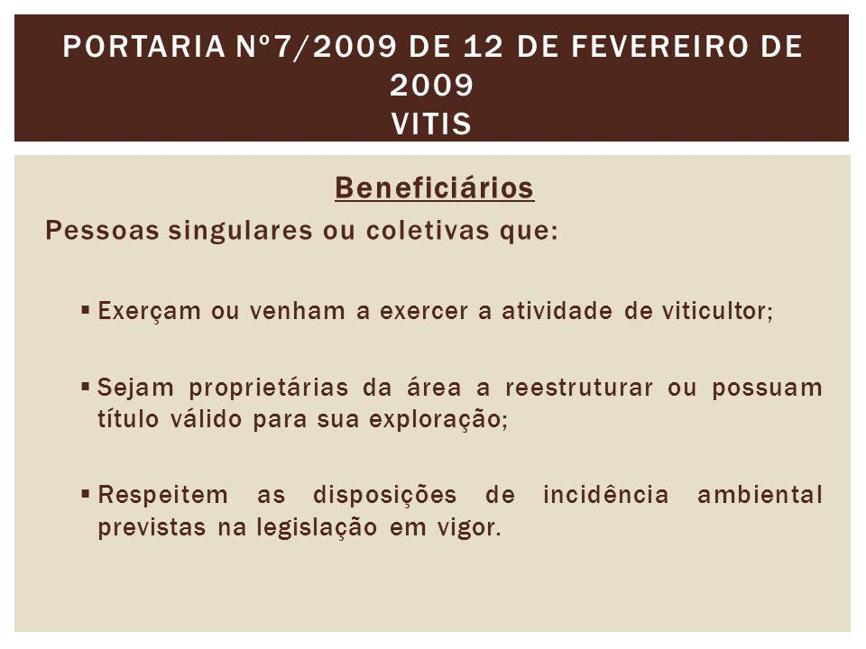 Portaria nº7/2009 de 12 de Fevereiro de 2009 VITIS