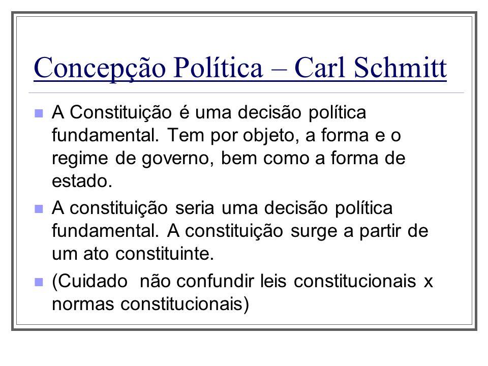 Concepção Política – Carl Schmitt