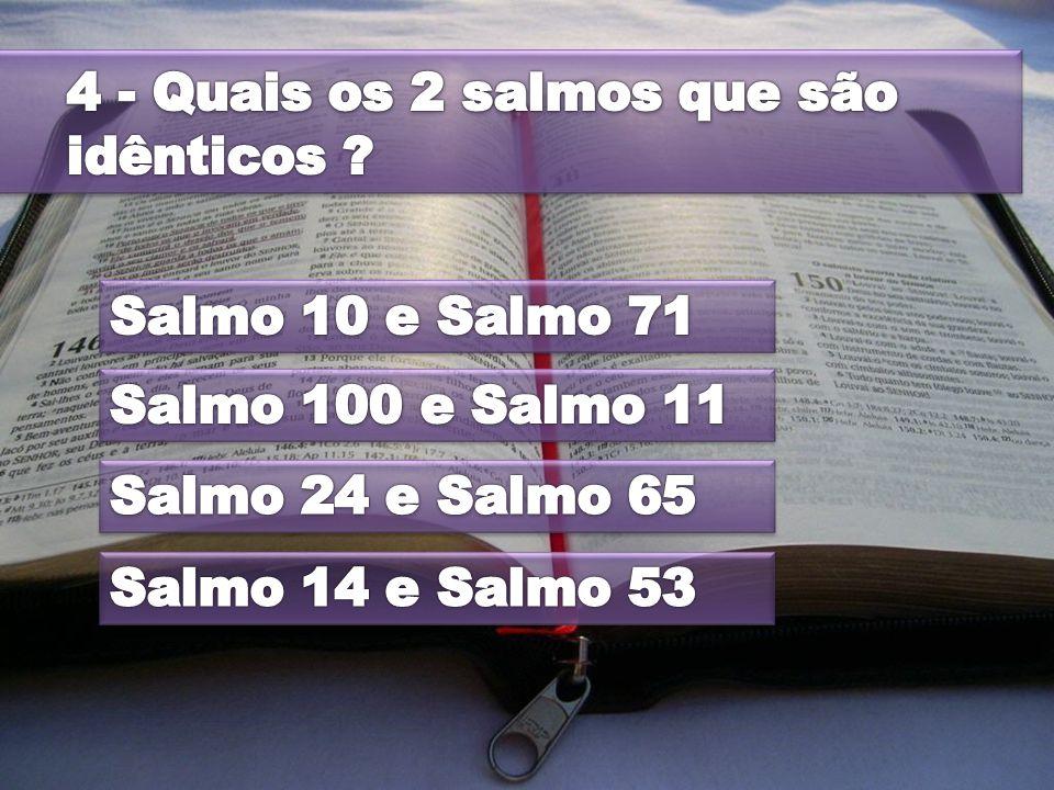 4 - Quais os 2 salmos que são idênticos