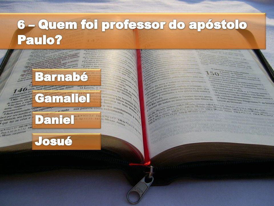 6 – Quem foi professor do apóstolo Paulo