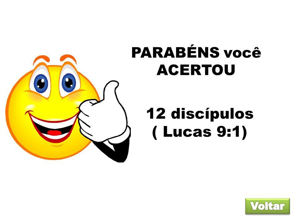 PARABÉNS você ACERTOU 12 discípulos ( Lucas 9:1) Voltar