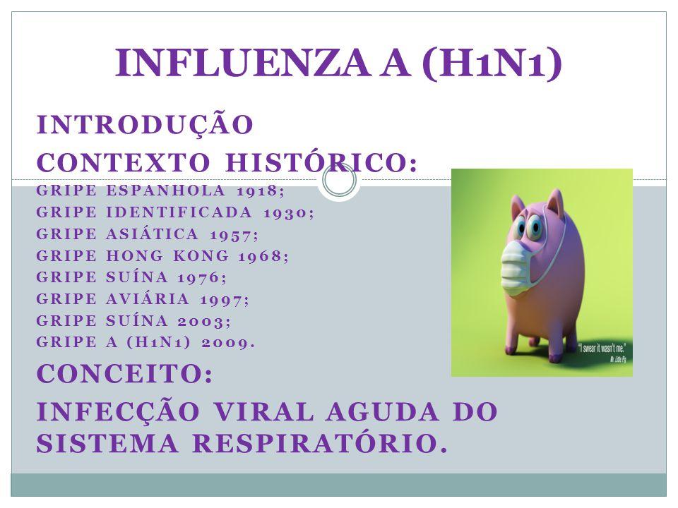 INFLUENZA A (H1N1) INTRODUÇÃO Contexto histórico: Conceito: