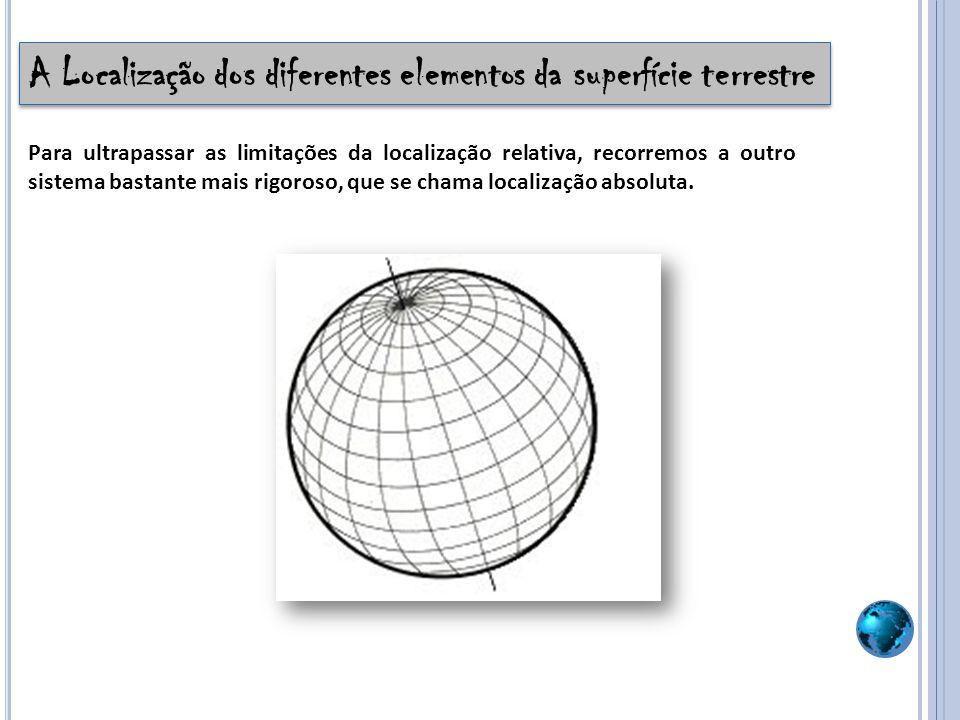 A Localização dos diferentes elementos da superfície terrestre