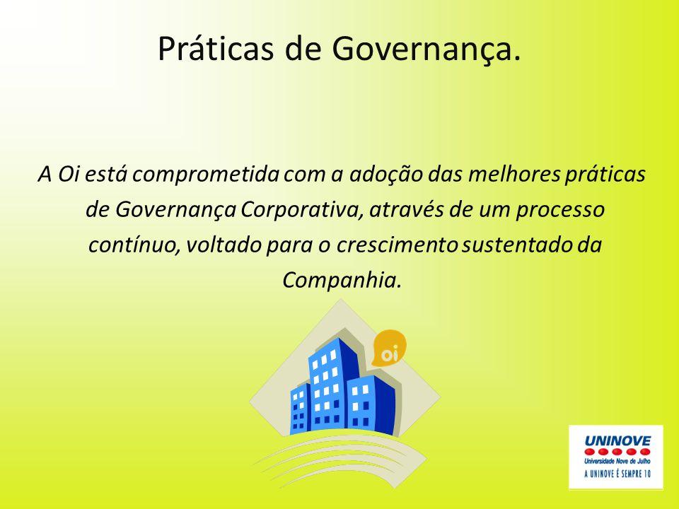 Práticas de Governança.