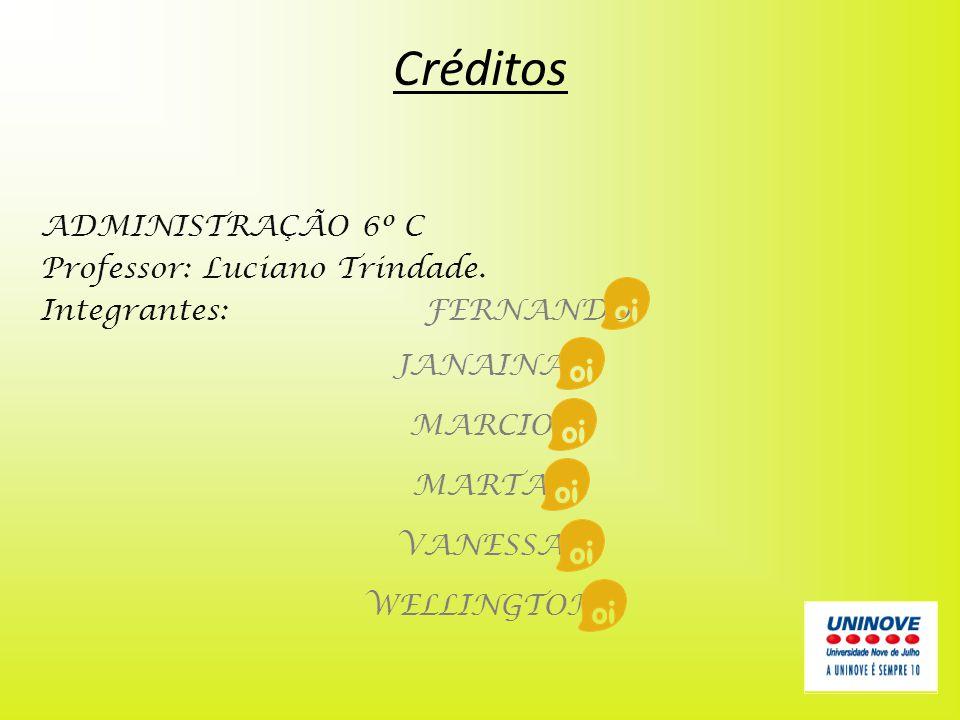 Créditos ADMINISTRAÇÃO 6º C Professor: Luciano Trindade.