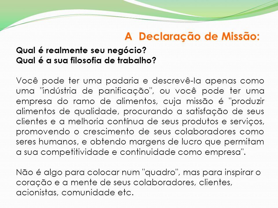 A Declaração de Missão: