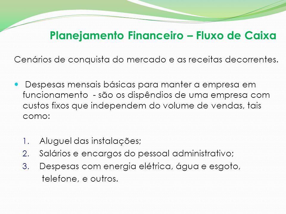 Planejamento Financeiro – Fluxo de Caixa
