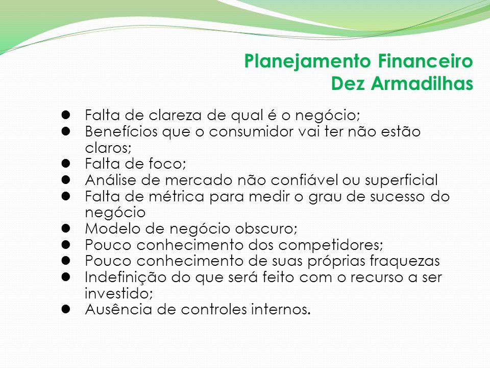 Planejamento Financeiro Dez Armadilhas