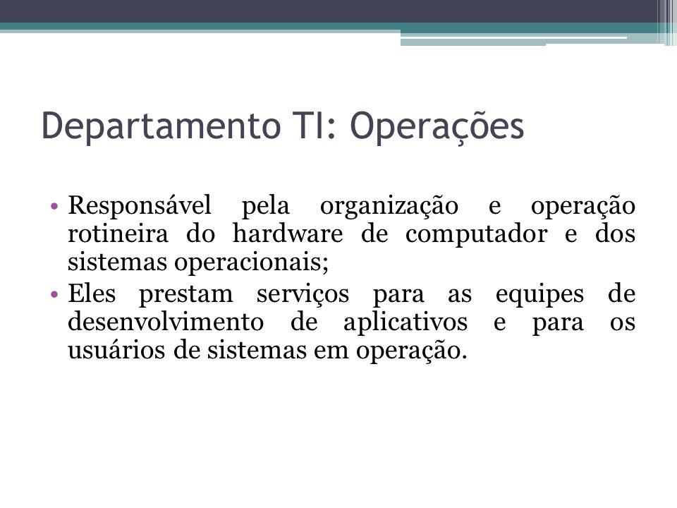 Departamento TI: Operações