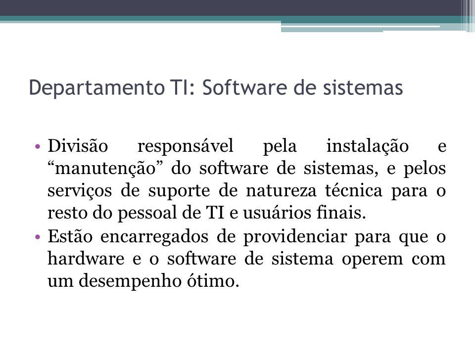 Departamento TI: Software de sistemas