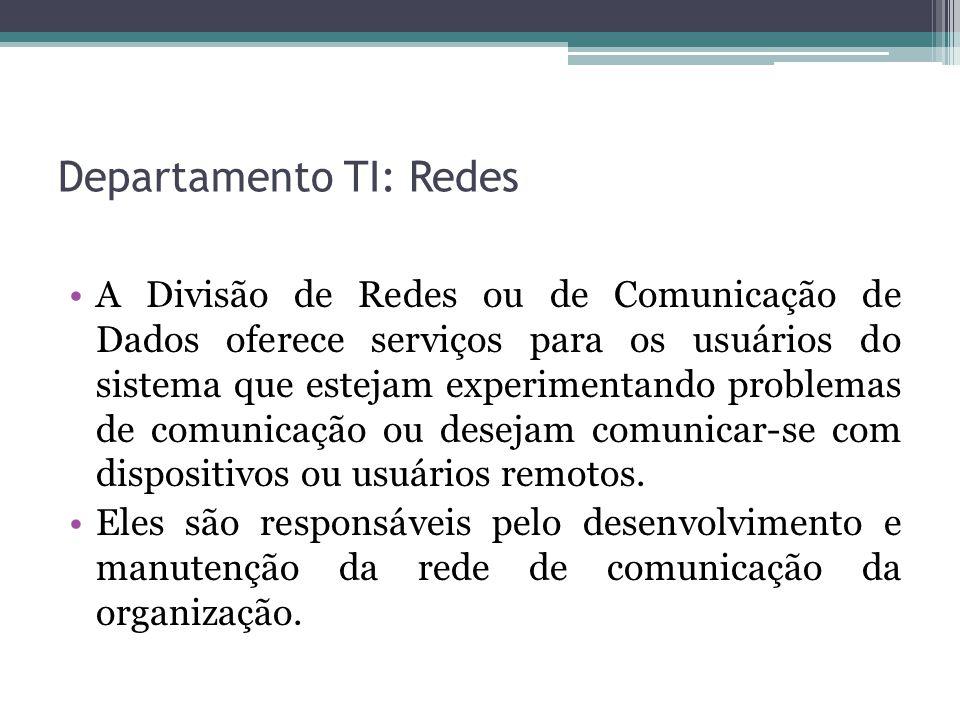 Departamento TI: Redes