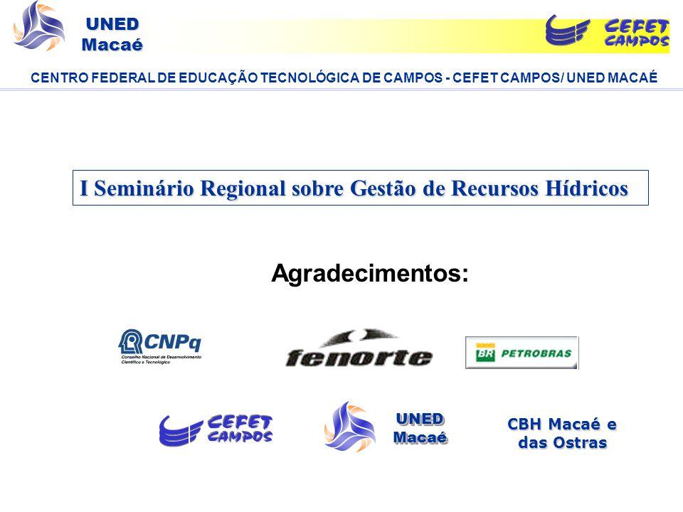I Seminário Regional sobre Gestão de Recursos Hídricos