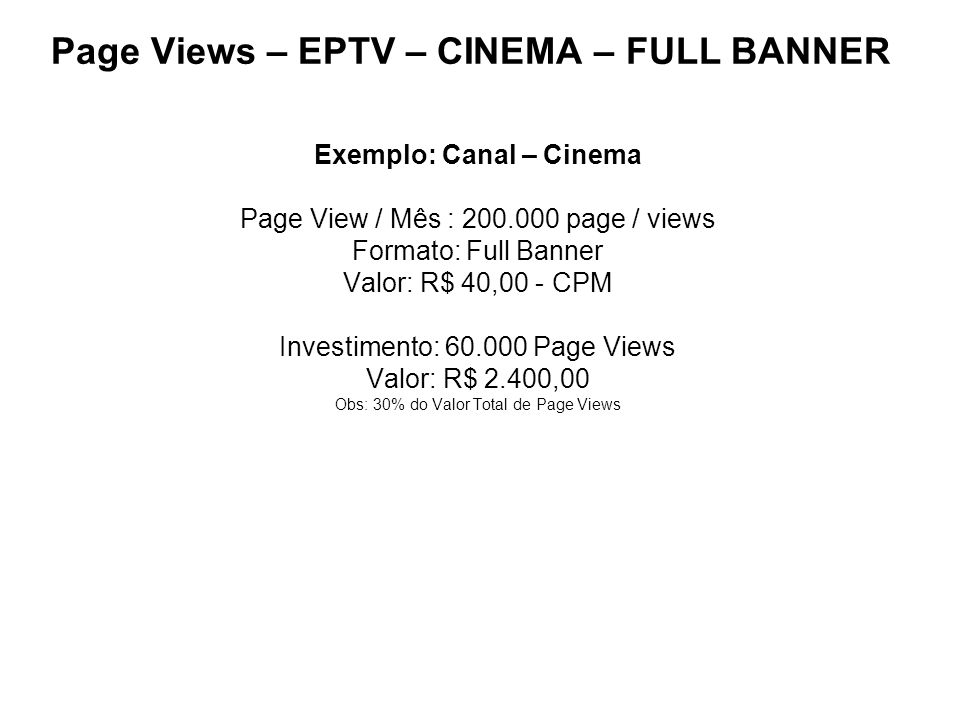 Page Views – EPTV – CINEMA – FULL BANNER