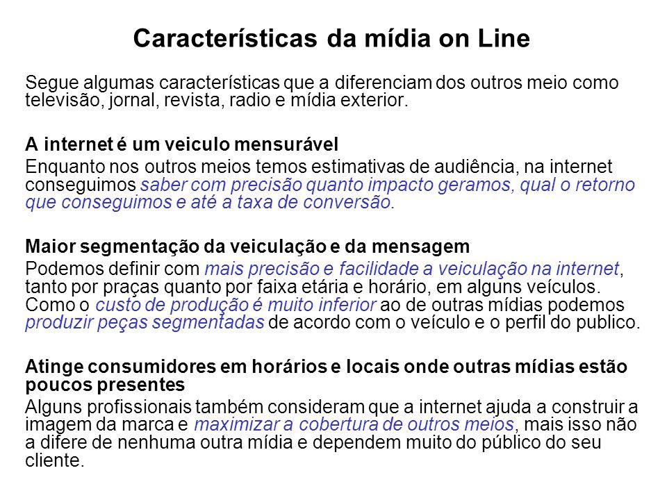 Características da mídia on Line