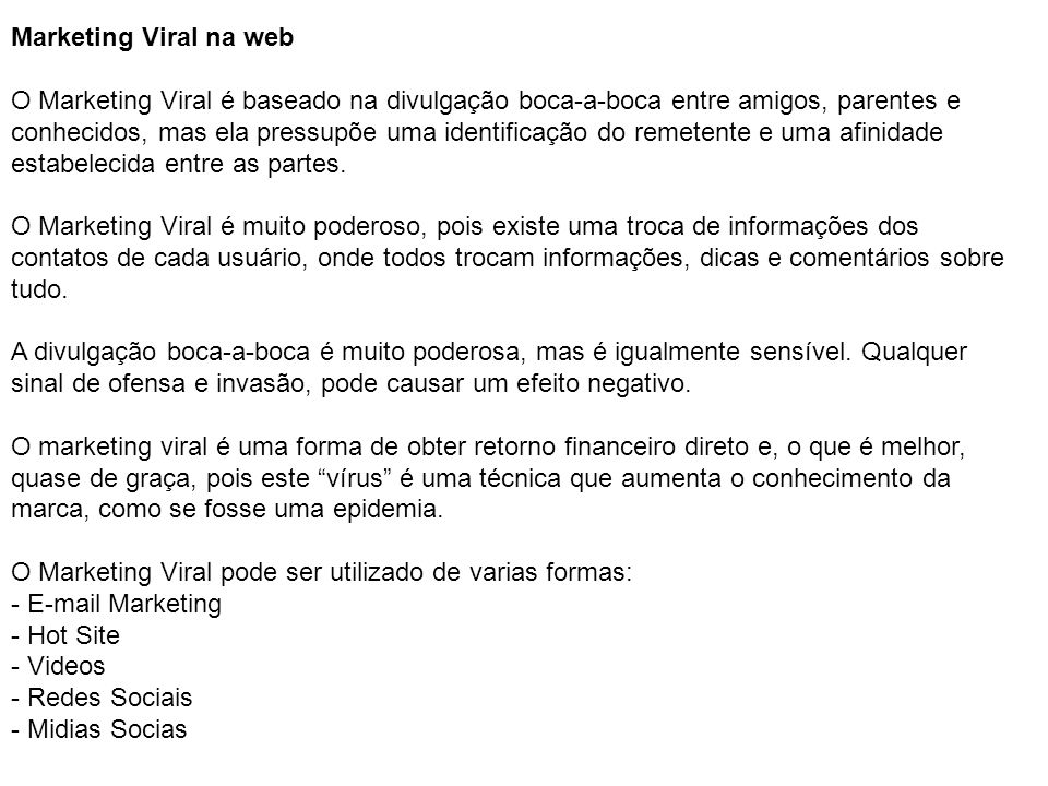 Marketing Viral na web