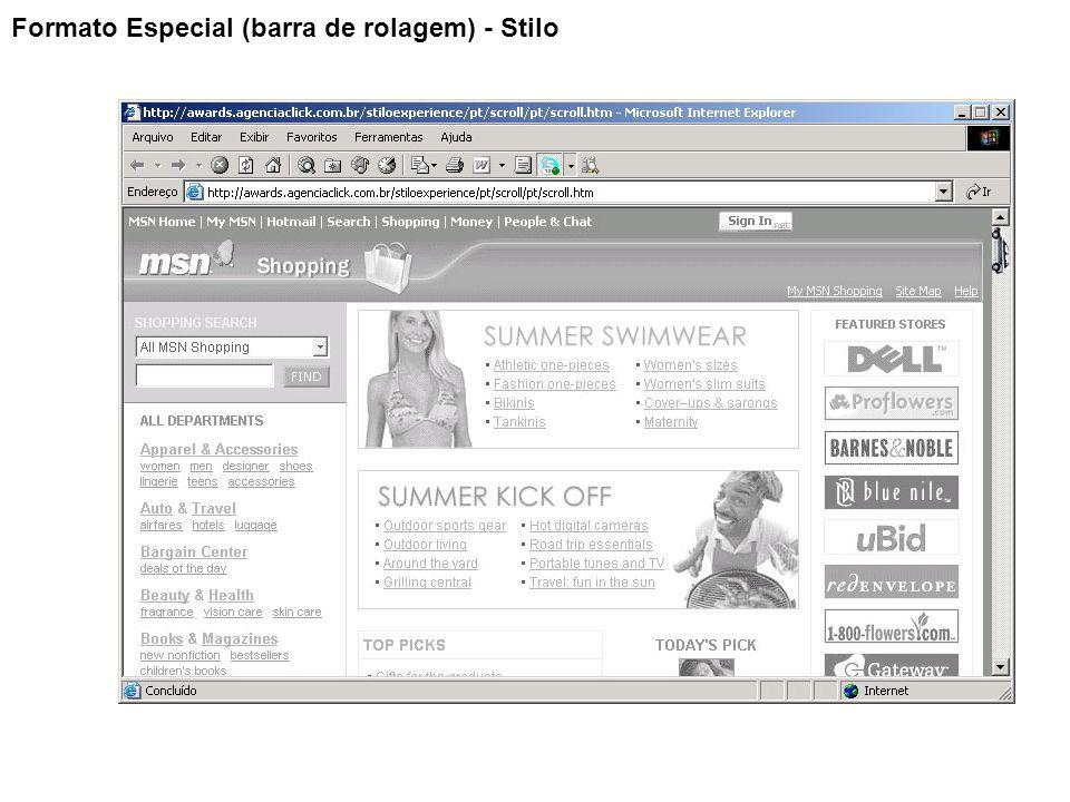 Formato Especial (barra de rolagem) - Stilo