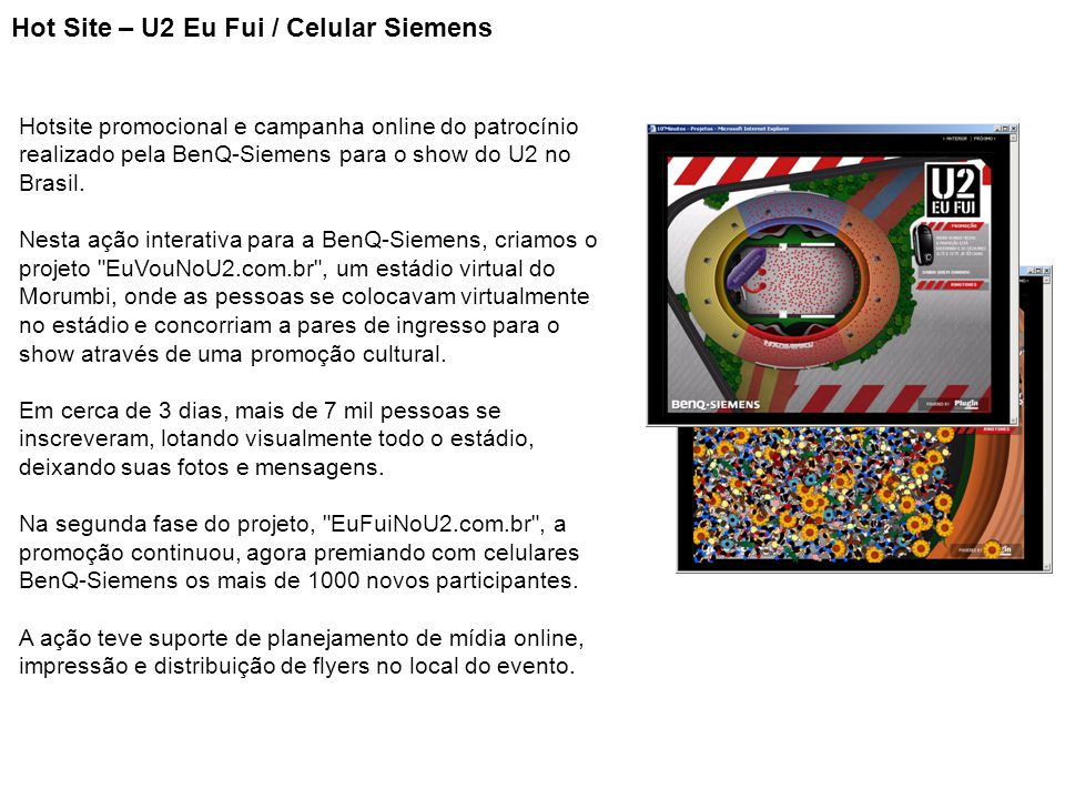 Hot Site – U2 Eu Fui / Celular Siemens