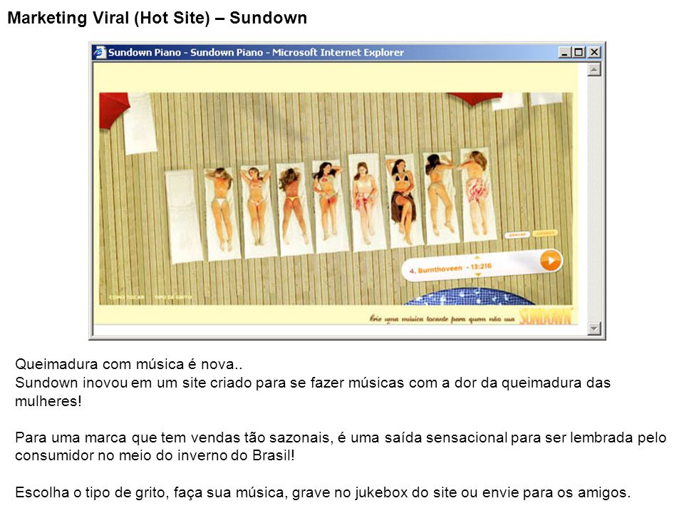 Marketing Viral (Hot Site) – Sundown