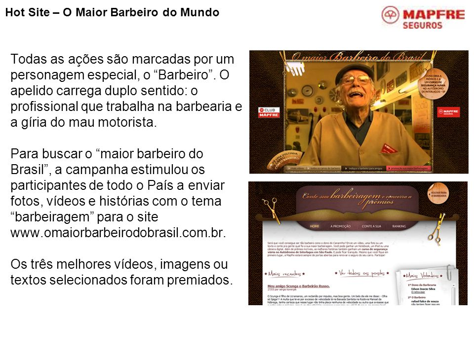 Hot Site – O Maior Barbeiro do Mundo