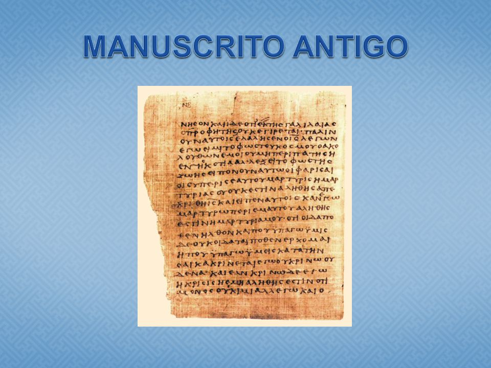 MANUSCRITO ANTIGO