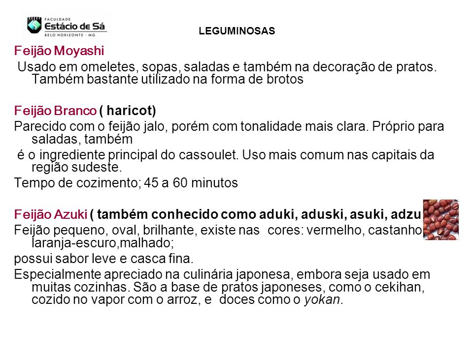Feijão Branco ( haricot)