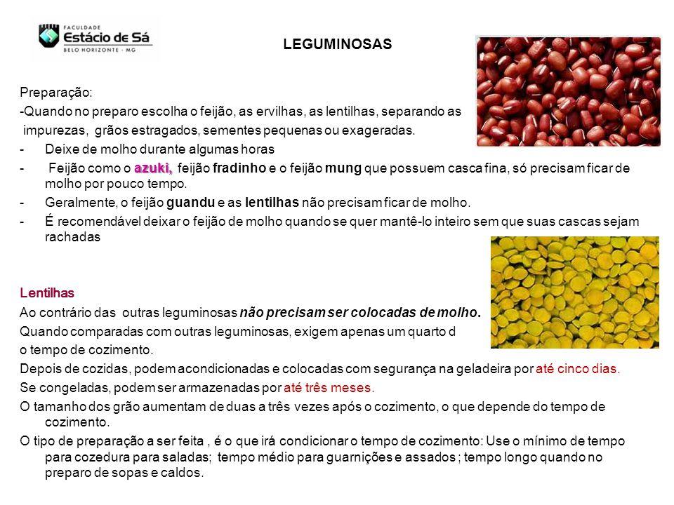 LEGUMINOSAS Preparação: