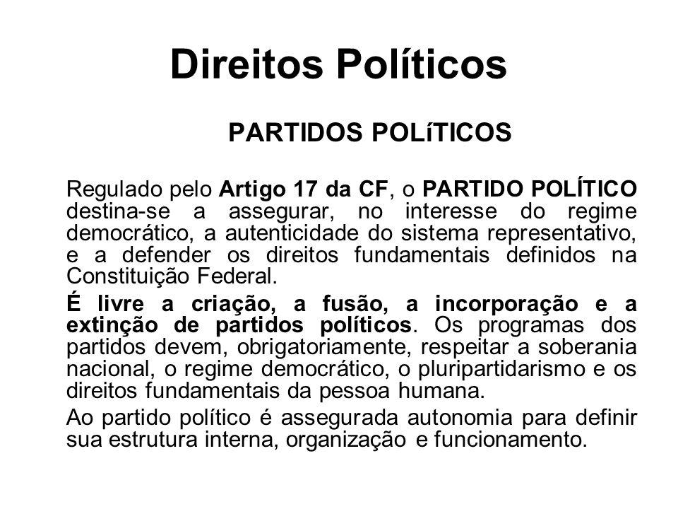 Direitos Políticos PARTIDOS POLíTICOS
