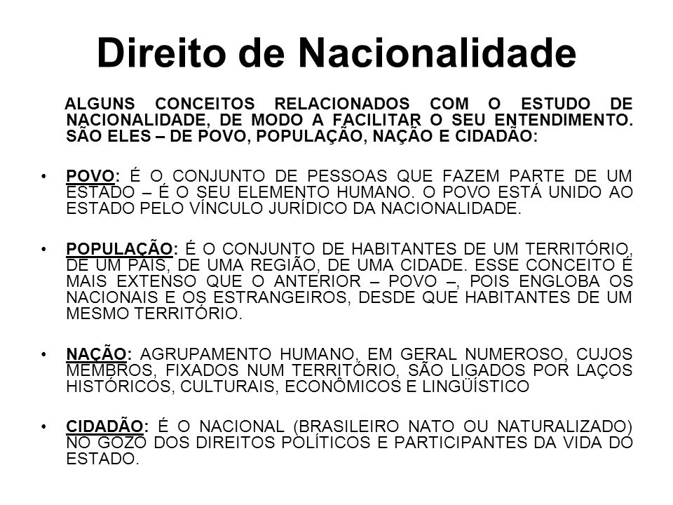 Direito de Nacionalidade