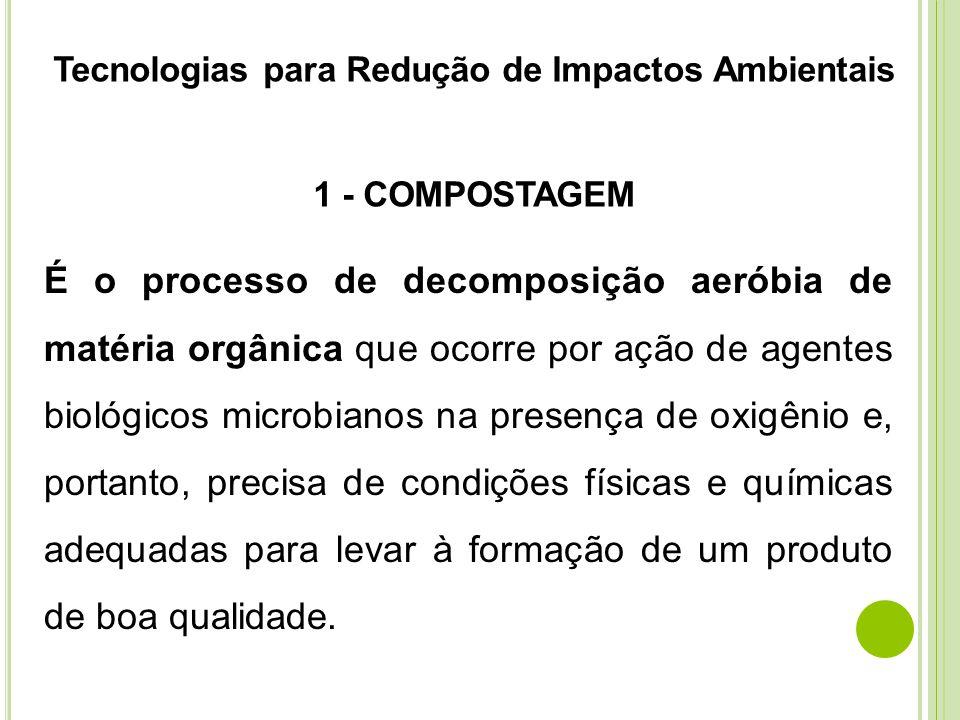 Tecnologias para Redução de Impactos Ambientais