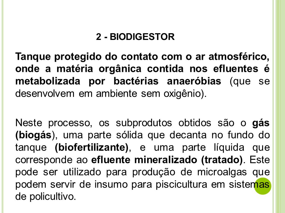 2 - BIODIGESTOR