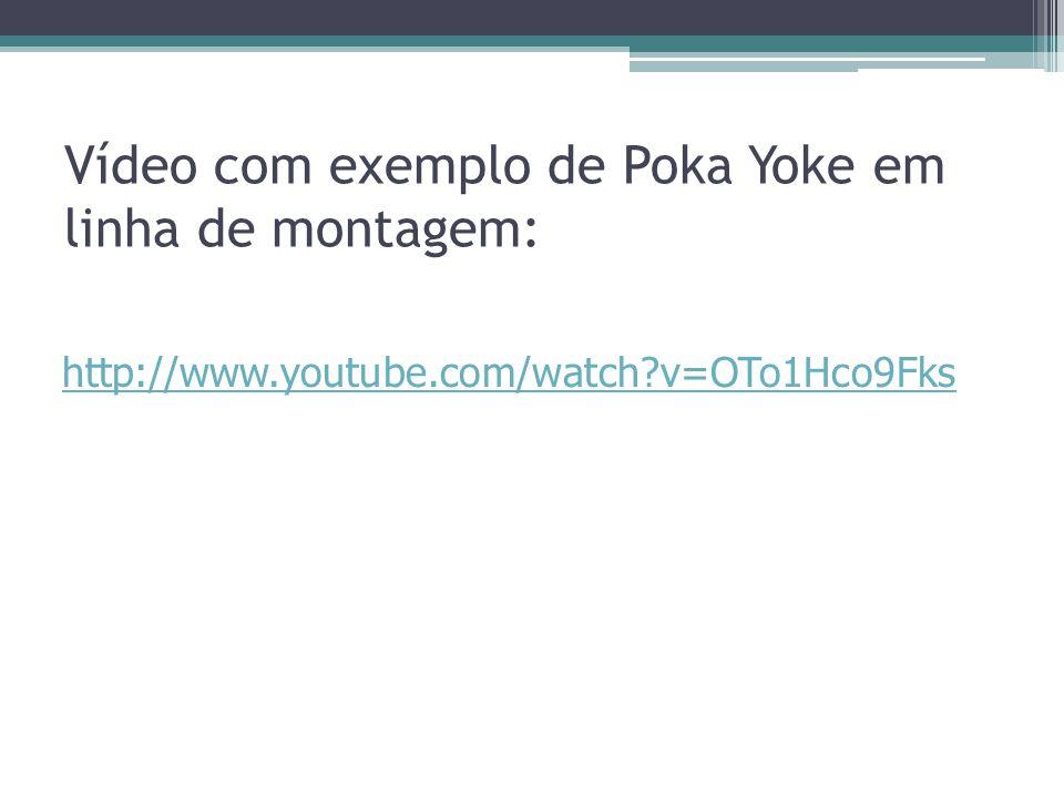 Vídeo com exemplo de Poka Yoke em linha de montagem:
