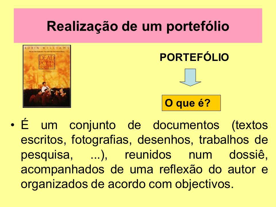 Realização de um portefólio