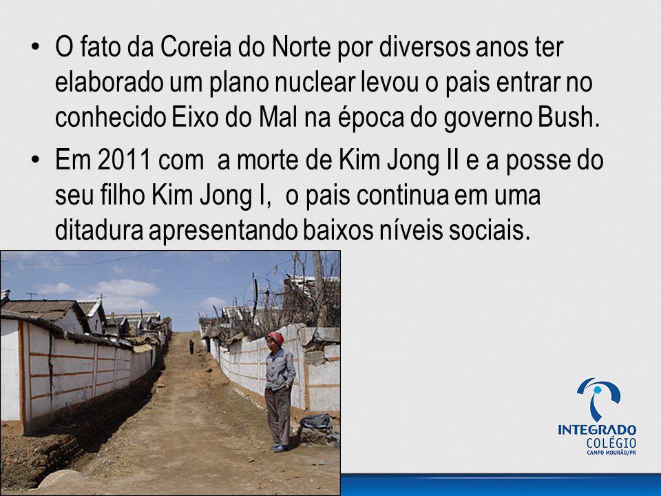 O fato da Coreia do Norte por diversos anos ter elaborado um plano nuclear levou o pais entrar no conhecido Eixo do Mal na época do governo Bush.