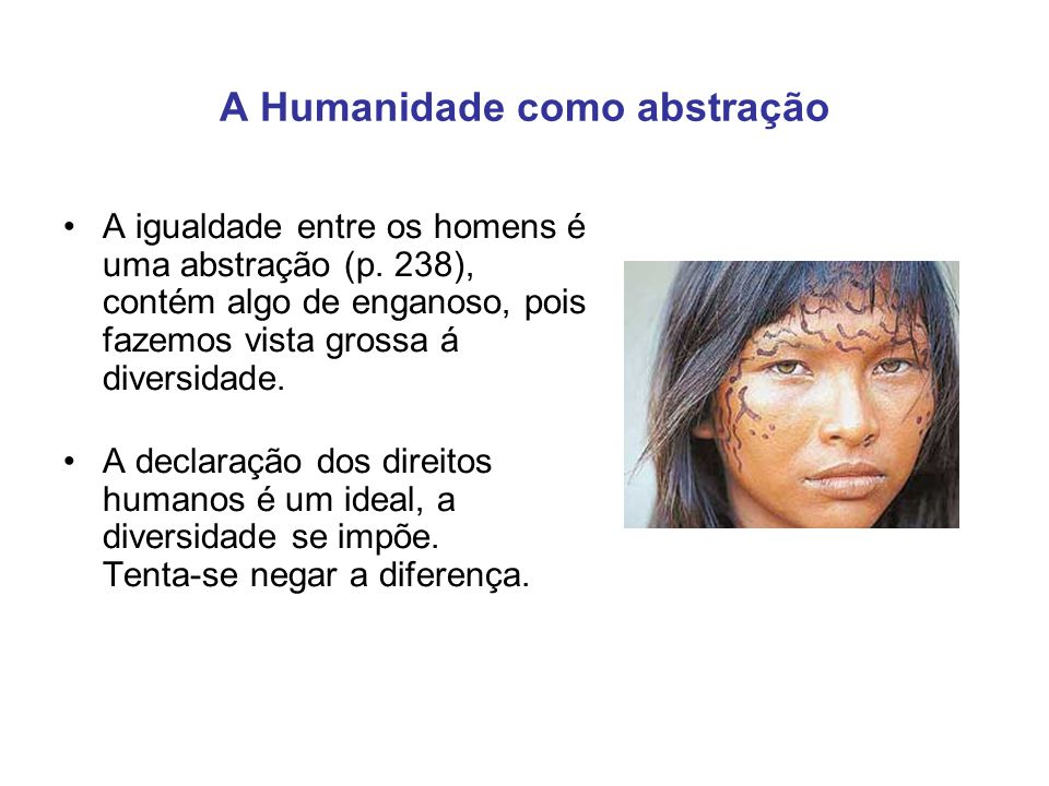 A Humanidade como abstração