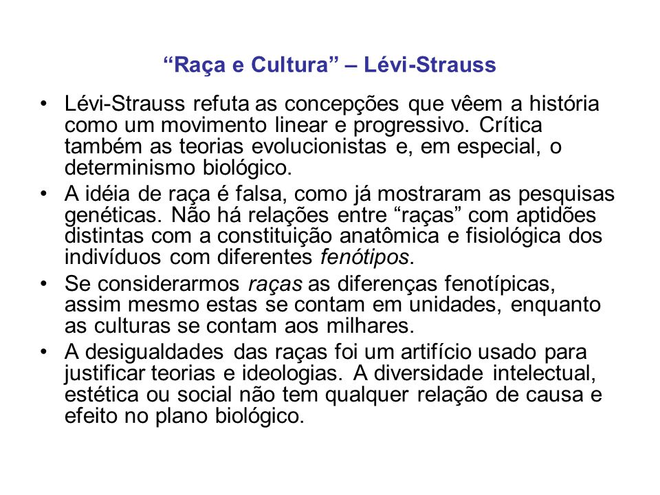 Raça e Cultura – Lévi-Strauss