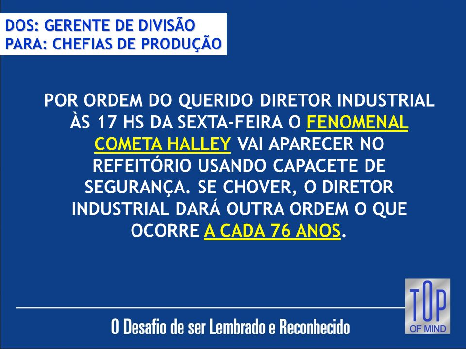 DOS: GERENTE DE DIVISÃO