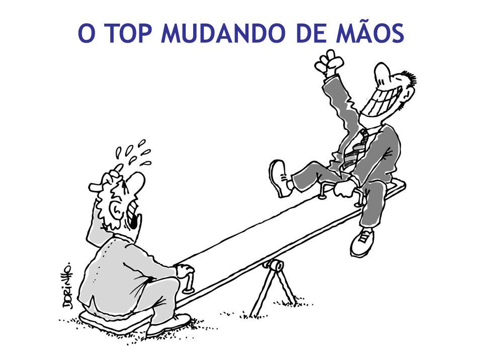 O TOP MUDANDO DE MÃOS