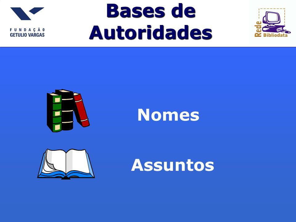 Bases de Autoridades Nomes Assuntos