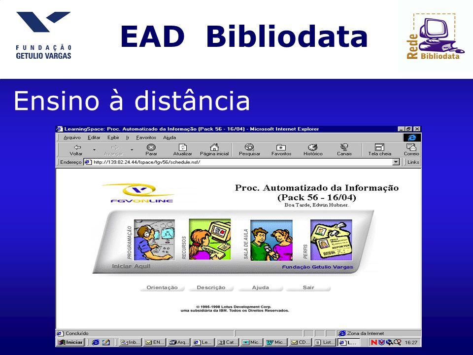 EAD Bibliodata Ensino à distância