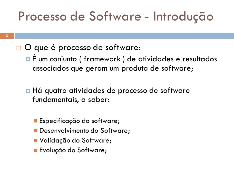 Processo de Software - Introdução