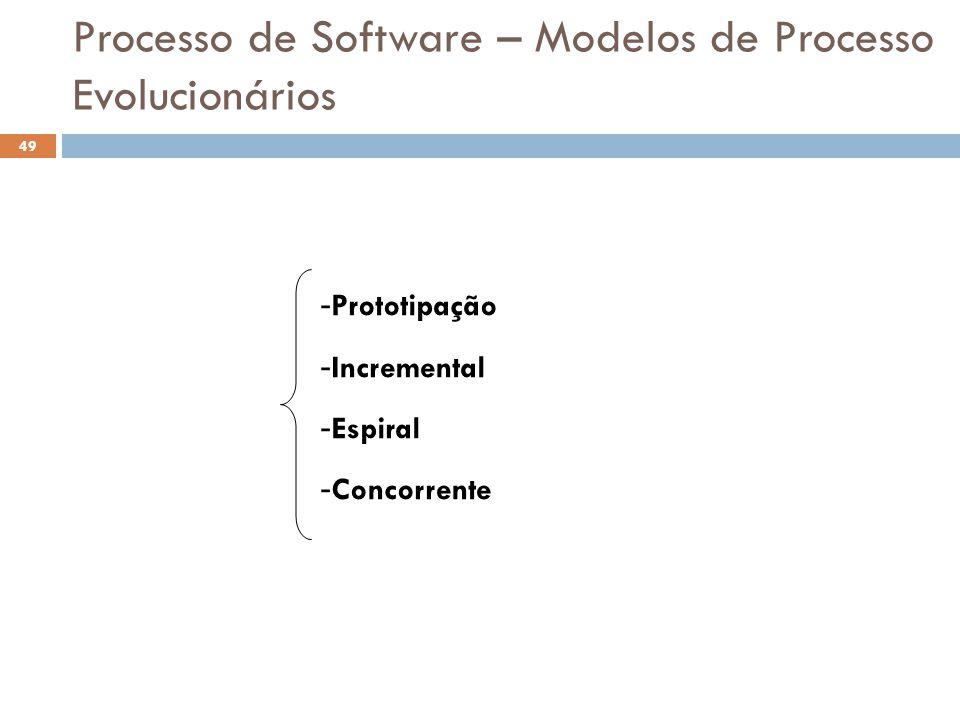 Processo de Software – Modelos de Processo Evolucionários
