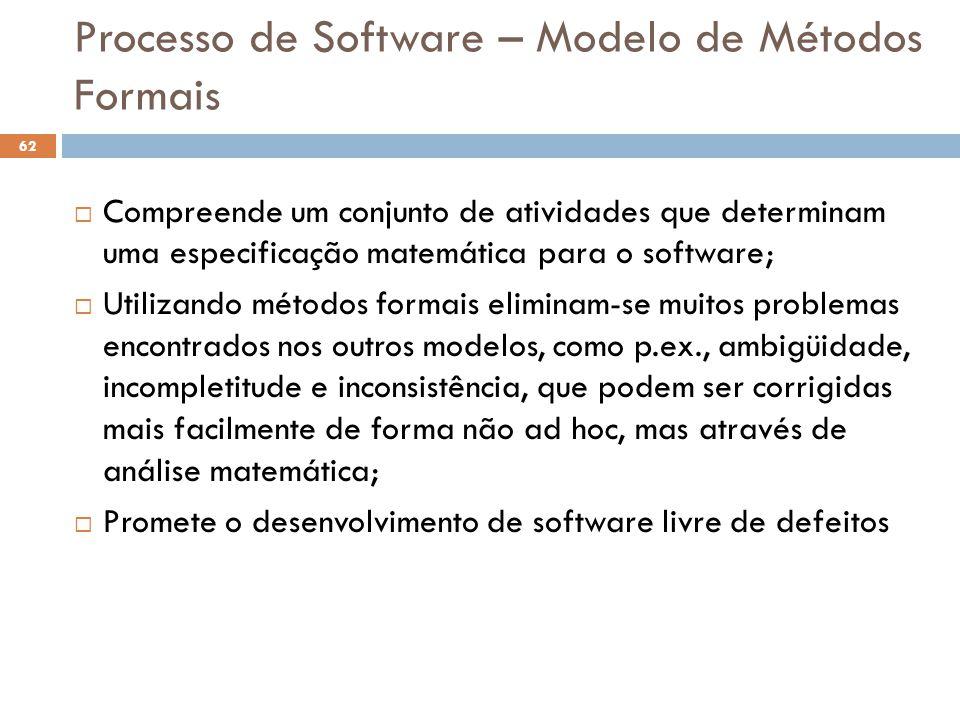 Processo de Software – Modelo de Métodos Formais