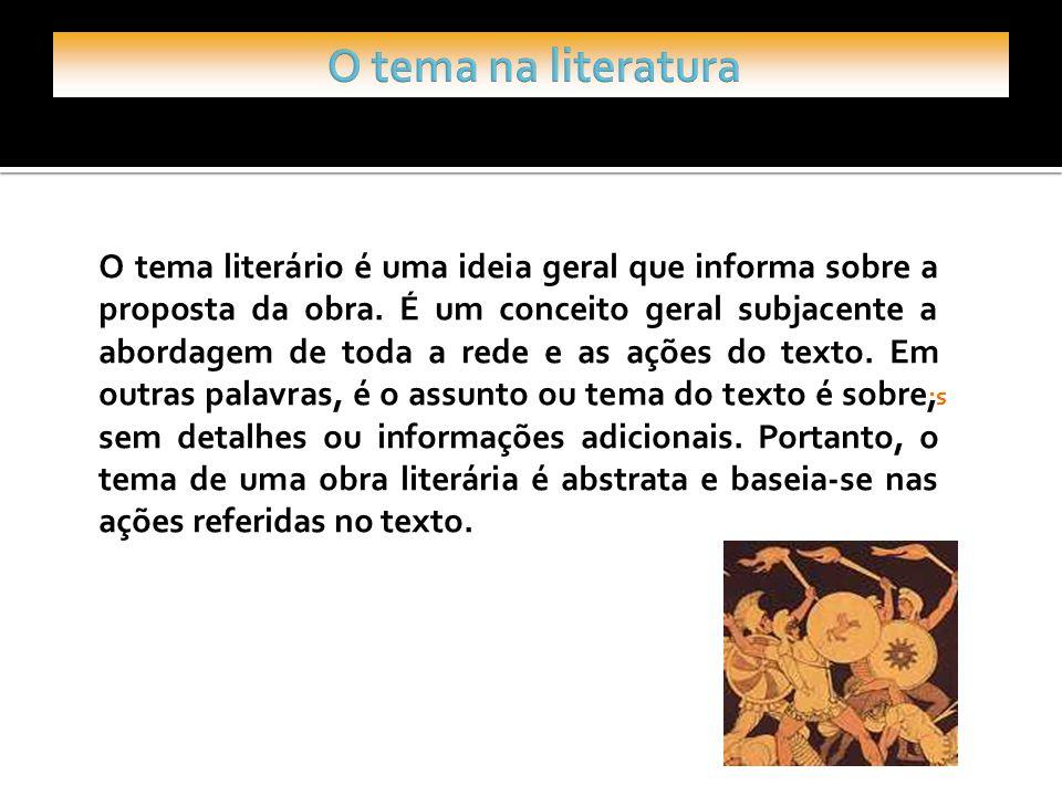 O tema na literatura