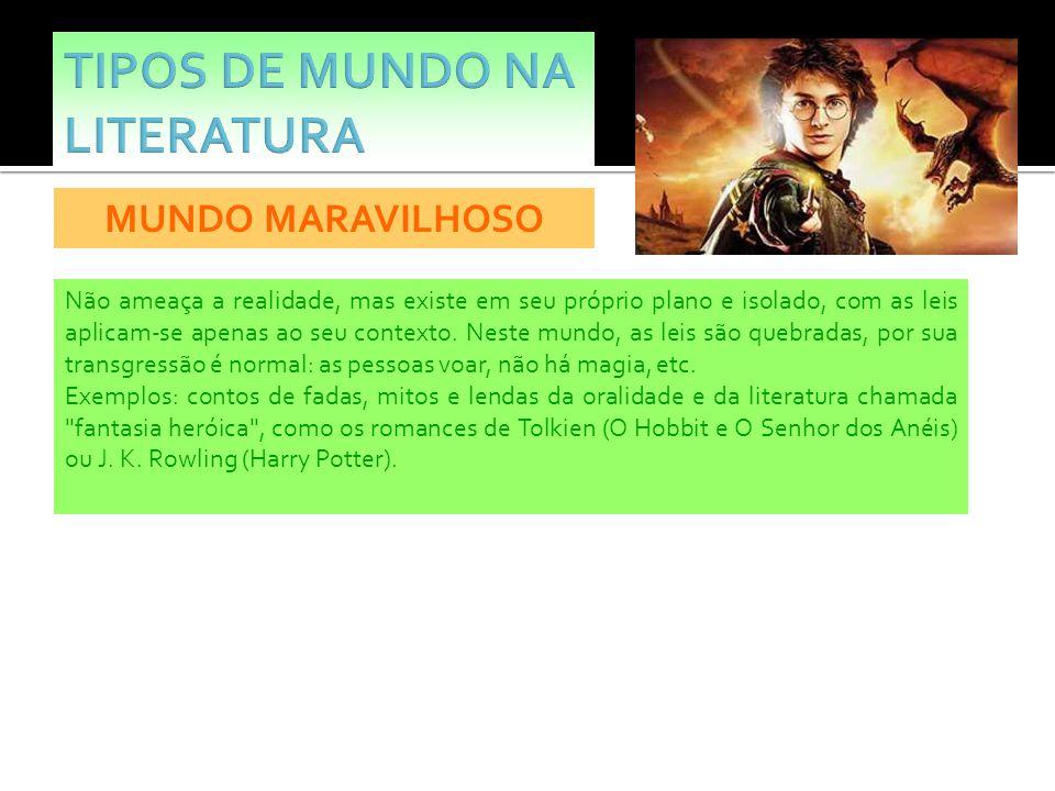 TIPOS DE MUNDO NA LITERATURA