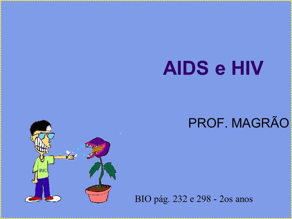 AIDS e HIV PROF. MAGRÃO BIO pág. 232 e 298 - 2os anos