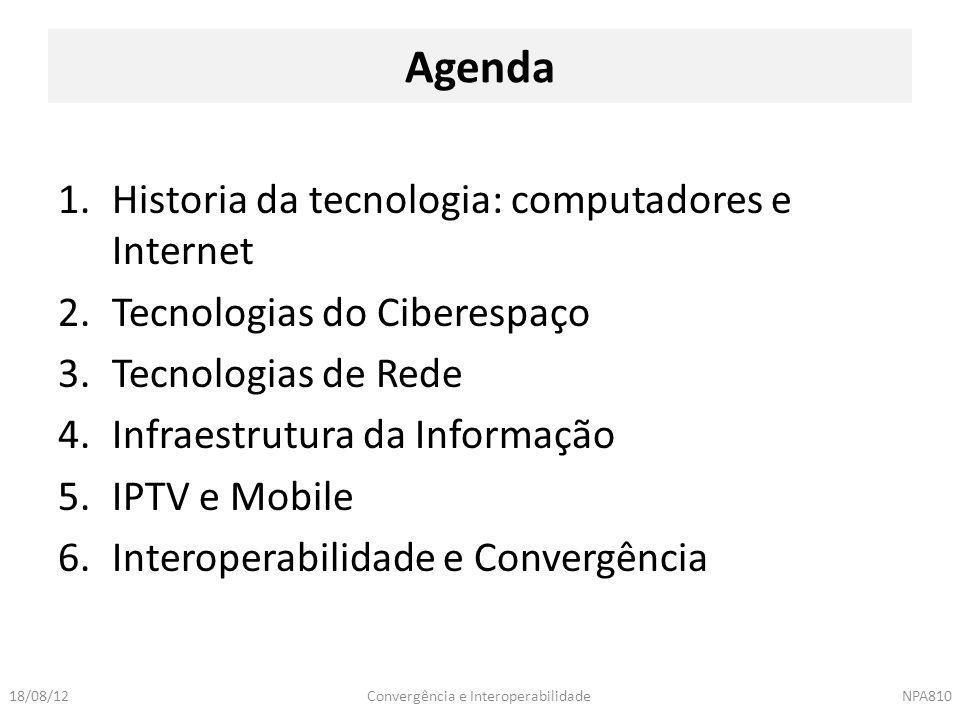 Agenda Historia da tecnologia: computadores e Internet