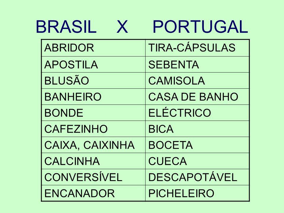BRASIL X PORTUGAL ABRIDOR TIRA-CÁPSULAS APOSTILA SEBENTA BLUSÃO