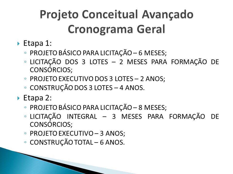 Projeto Conceitual Avançado Cronograma Geral