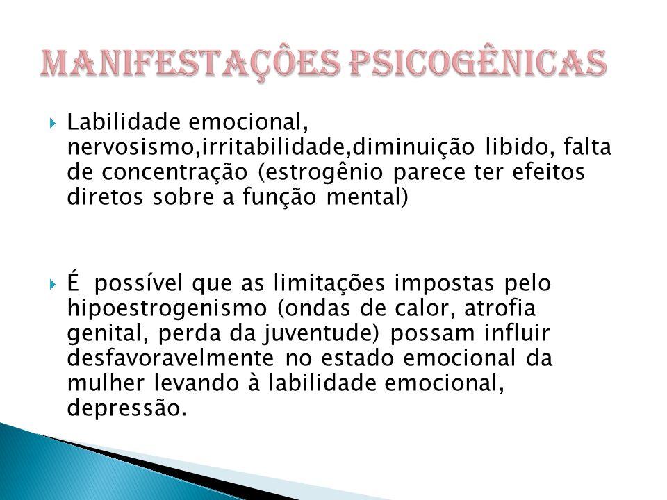 MANIFESTAÇÔES PSICOGÊNICAS